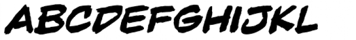 Beelzebrush Black BB Italic Font LOWERCASE