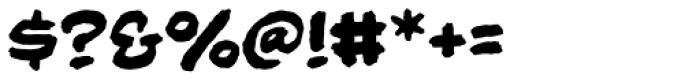 Beelzebrush Black BB Font OTHER CHARS