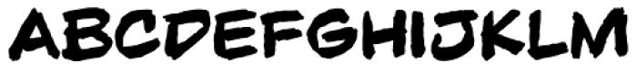 Beelzebrush Black BB Font LOWERCASE