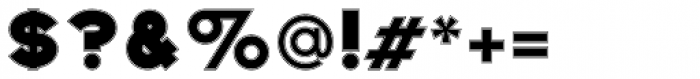 Befoil Outline Font OTHER CHARS