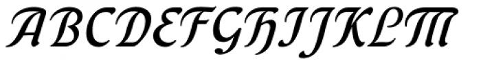 Behrens Kursiv Font UPPERCASE