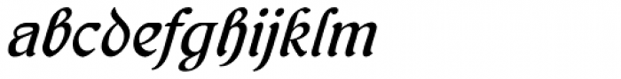 Behrens Kursiv Font LOWERCASE
