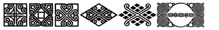 Behrens Ornaments Font UPPERCASE
