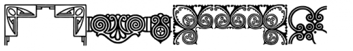 Behrens Ornaments Font LOWERCASE