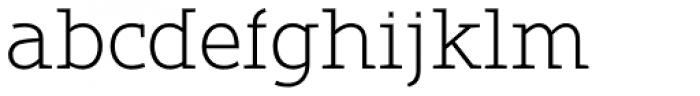 Belco Slab Serif UltraLight Font LOWERCASE