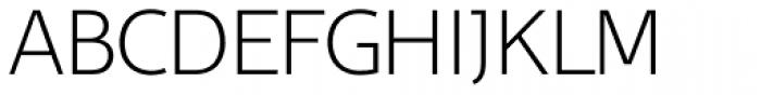 Belco UltraLight Font UPPERCASE