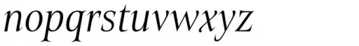 Belda Cond Light Italic Font LOWERCASE