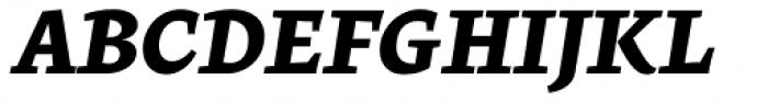 Beletria Heavy Italic Font UPPERCASE