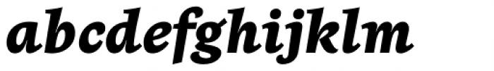 Beletria Heavy Italic Font LOWERCASE