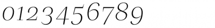 Beletria Large Extra Light Italic Font OTHER CHARS
