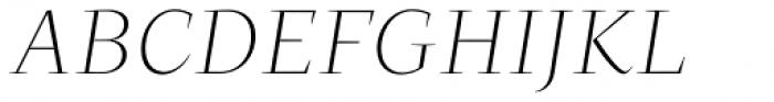 Beletria Large Extra Light Italic Font UPPERCASE