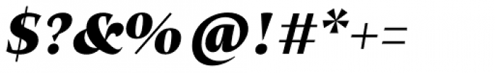 Beletria Large Heavy Italic Font OTHER CHARS
