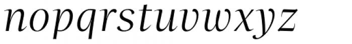 Beletria Large Light Italic Font LOWERCASE