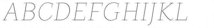 Beletria Large Thin Italic Font UPPERCASE