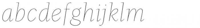 Beletria Large Thin Italic Font LOWERCASE