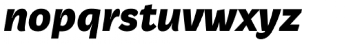 Beletrio Heavy Italic Font LOWERCASE