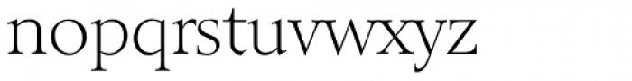 Belfast Serial ExtraLight Font LOWERCASE