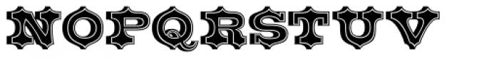 Belgian Inline Font UPPERCASE