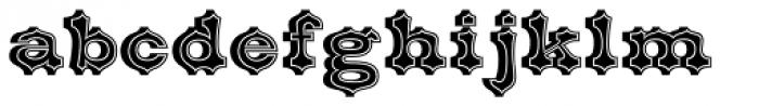 Belgian Inline Font LOWERCASE