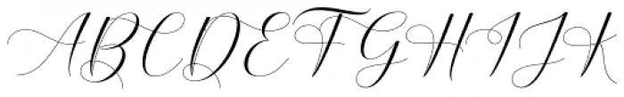 Belgiana Script Regular Font UPPERCASE