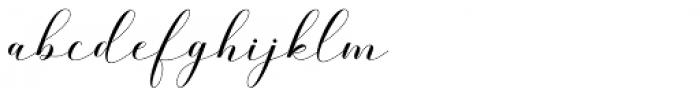 Belgiana Script Regular Font LOWERCASE