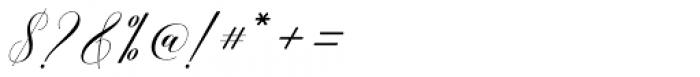 Belgiana Script Slant Font OTHER CHARS