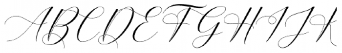 Belgiana Script Slant Font UPPERCASE