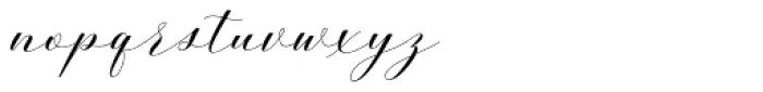 Belgiana Script Slant Font LOWERCASE