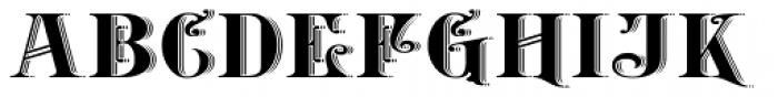 Belhampton Embossed Font UPPERCASE