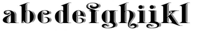 Belhampton Embossed Font LOWERCASE