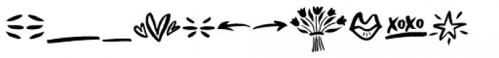 Bellamy Doodles Font UPPERCASE