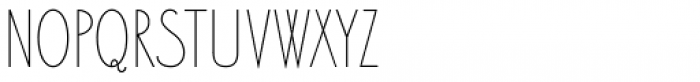 Bellavista Condensed 20 Font UPPERCASE