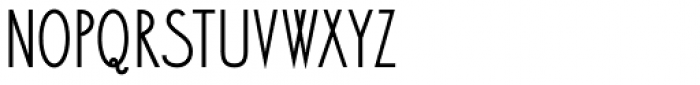 Bellavista Condensed 50 Font LOWERCASE