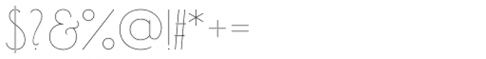 Bellavista Variable Font OTHER CHARS