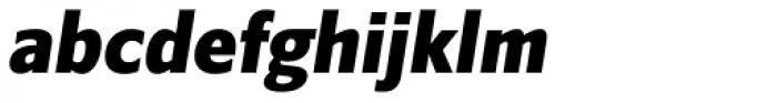 Belle Sans Condensed Blk Ob Font LOWERCASE