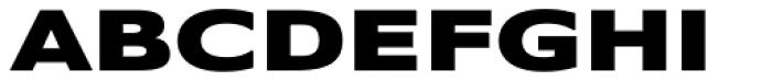 Belle Sans Ex Wide Black Font UPPERCASE