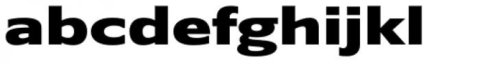 Belle Sans Ex Wide Black Font LOWERCASE