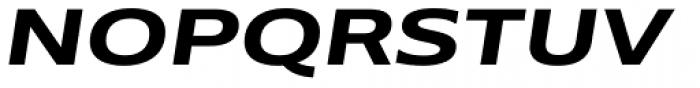 Belle Sans Ex Wide Bold Obl Font UPPERCASE