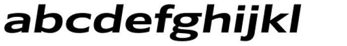 Belle Sans Ex Wide Bold Obl Font LOWERCASE