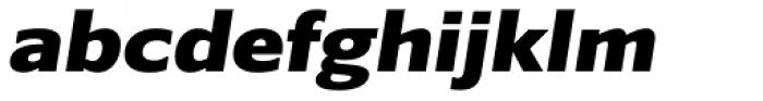 Belle Sans Expanded Blk Ob Font LOWERCASE
