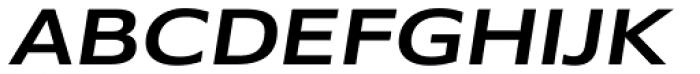 Belle Sans Wide Medium Obl Font UPPERCASE