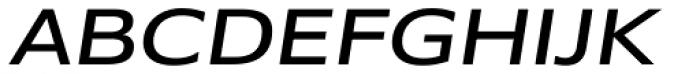 Belle Sans Wide Obl Font UPPERCASE