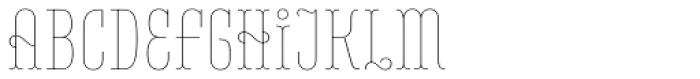 Belleville 07h FY Thin Font UPPERCASE