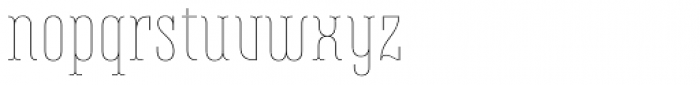 Belleville 07h FY Thin Font LOWERCASE