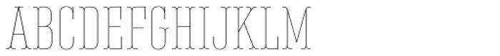 Belleville 13h FY Thin Font UPPERCASE
