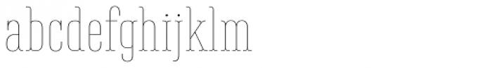 Belleville 13h FY Thin Font LOWERCASE