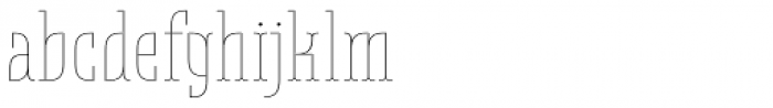 Belleville 19h FY Thin Font LOWERCASE