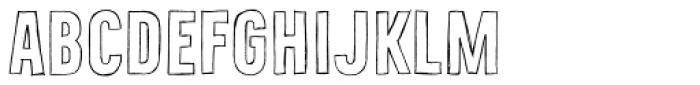 Bellfort Draw Hollow Bold Font UPPERCASE