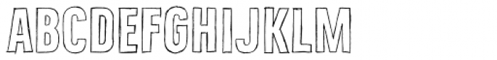 Bellfort Draw Hollow Bold Font LOWERCASE