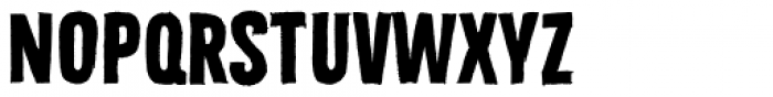 Bellfort Draw Rough Bold Font UPPERCASE